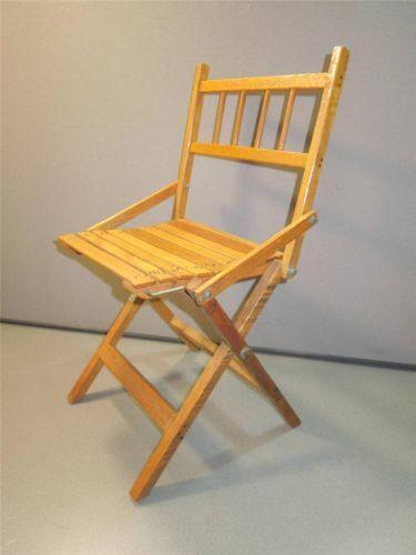 wooden slat chairs peg perego high chair prima pappa vintage childs folding | ebay