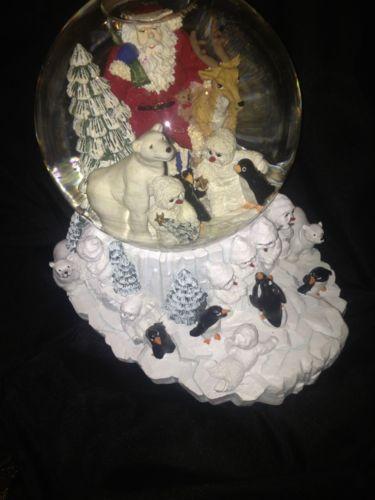 Large Christmas Snow Globe EBay