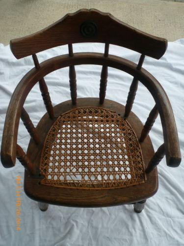 antique wood barber chair quickseat folding child's | ebay