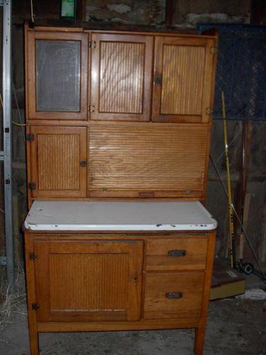 white hutches for kitchen upgrading countertops antique hutch | ebay