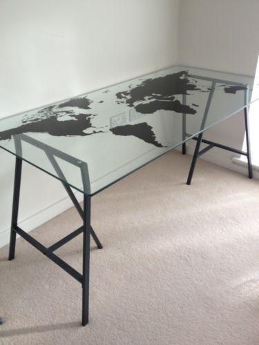 IKEA Glass Desk  eBay