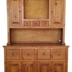 Unfinished Pine Kitchen Cabinets Cutting Block Table Country Hutch: Home & Garden | Ebay