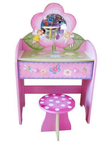 ikea pink desk chair wicker rocking chairs childrens dressing table | ebay
