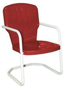 vintage lawn chair nailhead dining chairs metal ebay retro