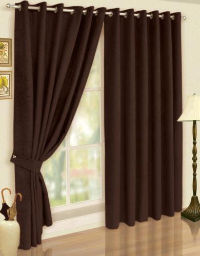 Faux Suede Curtains  eBay