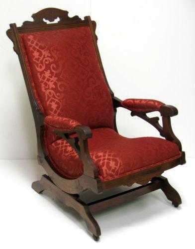 antique victorian folding rocking chair ekornes stressless reviews eastlake | ebay
