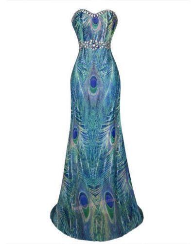 Peacock Feather Dress EBay