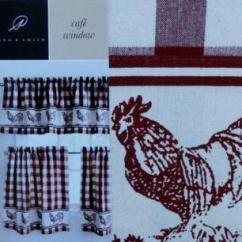 Rooster Decor Kitchen Mdf Cabinets Country Curtains | Ebay