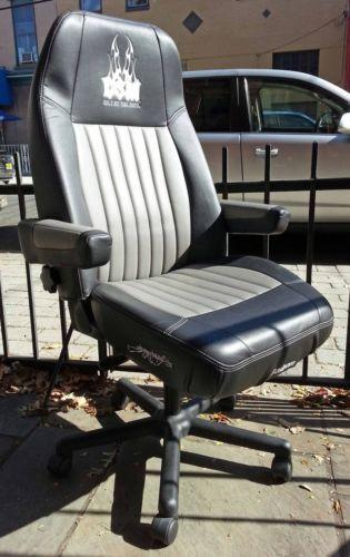 black leather office chair high back kids moon bostrom seat | ebay