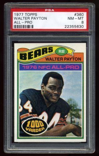 Walter Payton Topps Football Cards Ebay