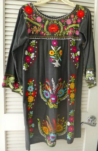 Black Mexican Dress  eBay