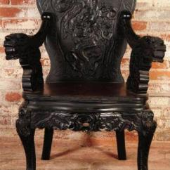 Antique Chinese Dragon Chair Walmart Kitchen Table And Chairs Carved | Ebay