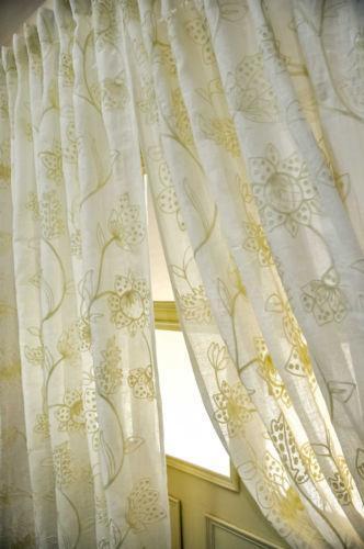 vintage kitchen curtains free design crewel | ebay