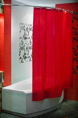 Red Shower Curtain EBay