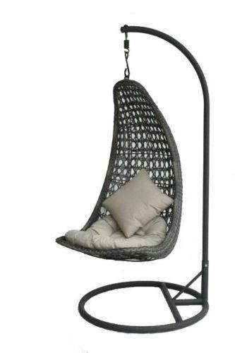 al fresco st tropez hanging chair and cushion white modern dining chairs ebay