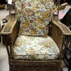 Antique Wicker Chairs Costco Executive Office Chair Rocking | Ebay