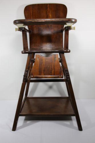 Antique Wooden High Chair  eBay