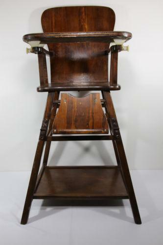 antique high chairs remote holder for chair wooden ebay