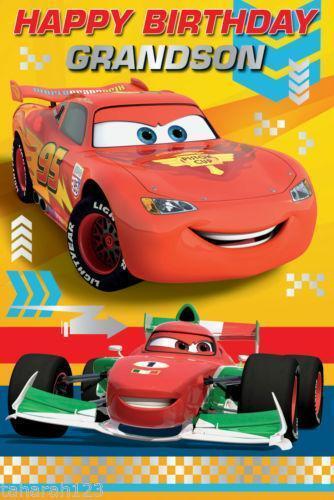 Disney Cars Birthday Card EBay