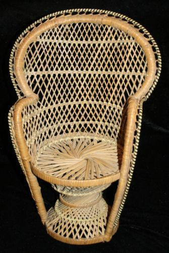 hanging rattan chair faux leather dining room chairs wicker fan back | ebay