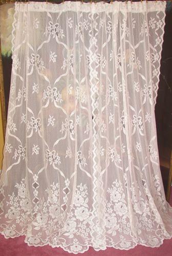 Antique Lace Curtains  eBay