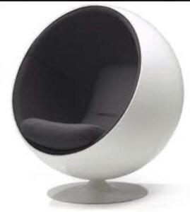 hanging chair ebay au wooden recliner egg pod ikea