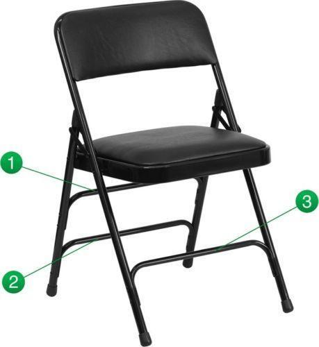 chair steel folding officeworks accessories metal chairs ebay