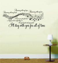 Song Lyrics Wall Stickers | eBay