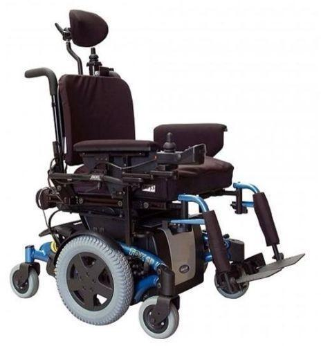 jazzy power chair used club with ottoman electric wheelchair | ebay