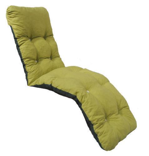garden recliner chair covers wheel basketball cushions   ebay