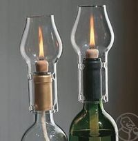 Wine Bottle OIL Lamp KIT Twin Pack