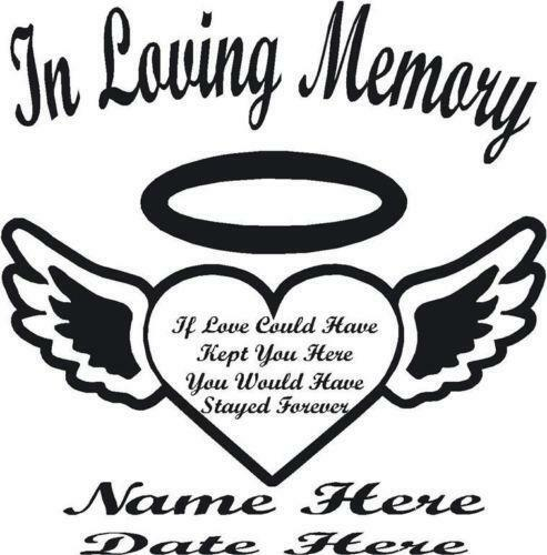 In Loving Memory Butterfly Decal