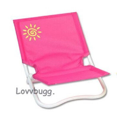 pink beach chair design in autocad lovvbugg folding doll furniture fits 18 american girl accessory