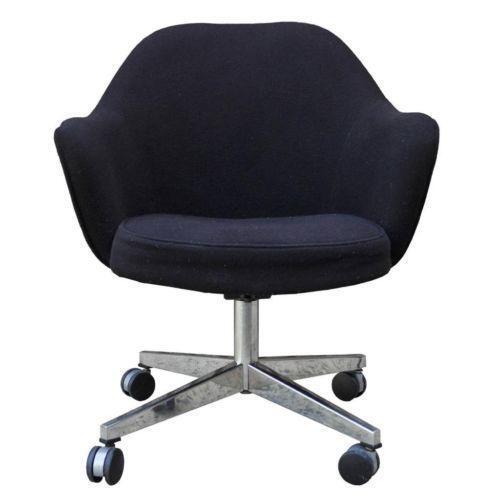 swivel office chair with wheels pokemon bean bag vintage rolling | ebay