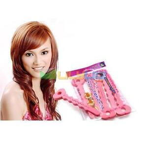 6pc magic soft twisty bendy hair curly rollers foam curler easy use