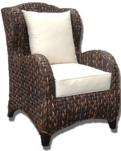 banana leaf dining room chairs swivel bucket chair seagrass | ebay