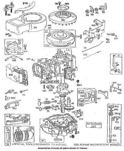 briggs and stratton 5hp engine parts