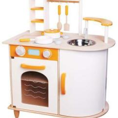Wooden Play Kitchen Drop Leaf Island Ebay