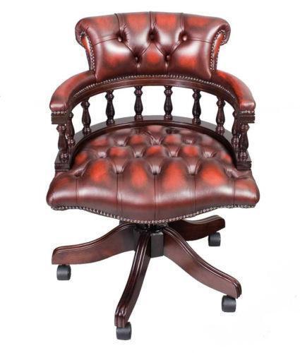 antique office chair Antique Leather Desk Chair | eBay