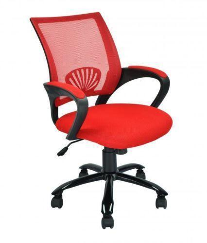 red gaming chair leather wingback recliner office | ebay