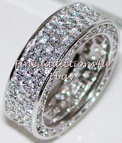 Womens Sterling Silver Wedding Bands EBay
