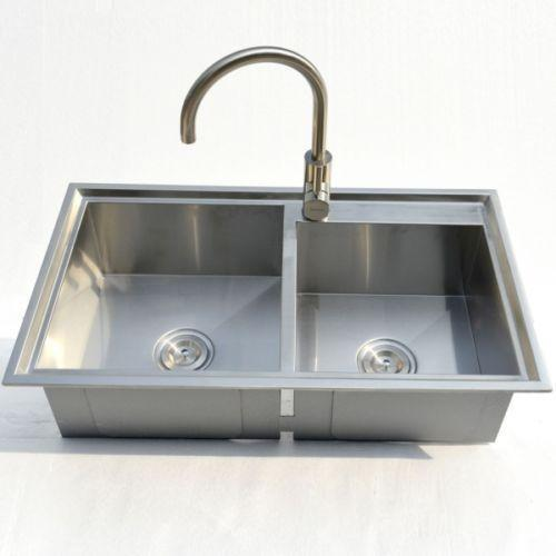 Stainless Steel Kitchen Sink Topmount  Ebay