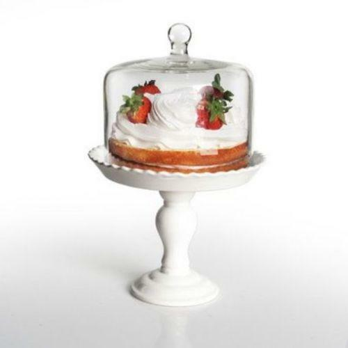 Square Cake Plate with Dome