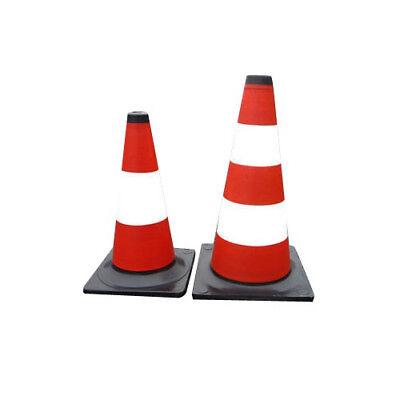 Verkehrs-Leitkegel Rot / weiß Warnleitkegel Hütchen Warnkegel NEU