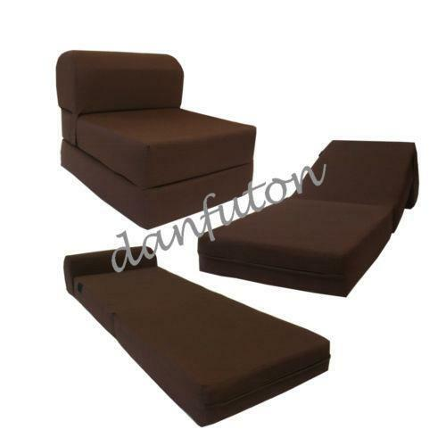 sleeper chair folding foam bed full size office mat bamboo sofa sleeper: furniture | ebay