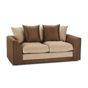 brown fabric sofa office corner sofas uk seating settees ebay 2 seater