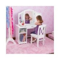 Childs Dressing Table Chair Vanity Mirror Side Mirrors ...