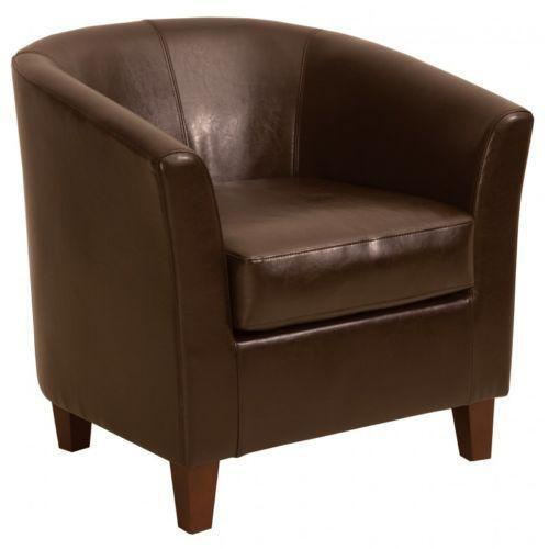 brown leather computer chair tub covers ireland bucket | ebay