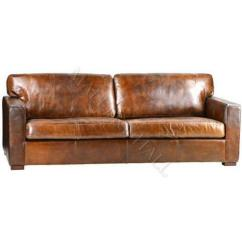 Henredon Sofa Leather Mckenna Queen Memory Foam Sleeper Distressed | Ebay