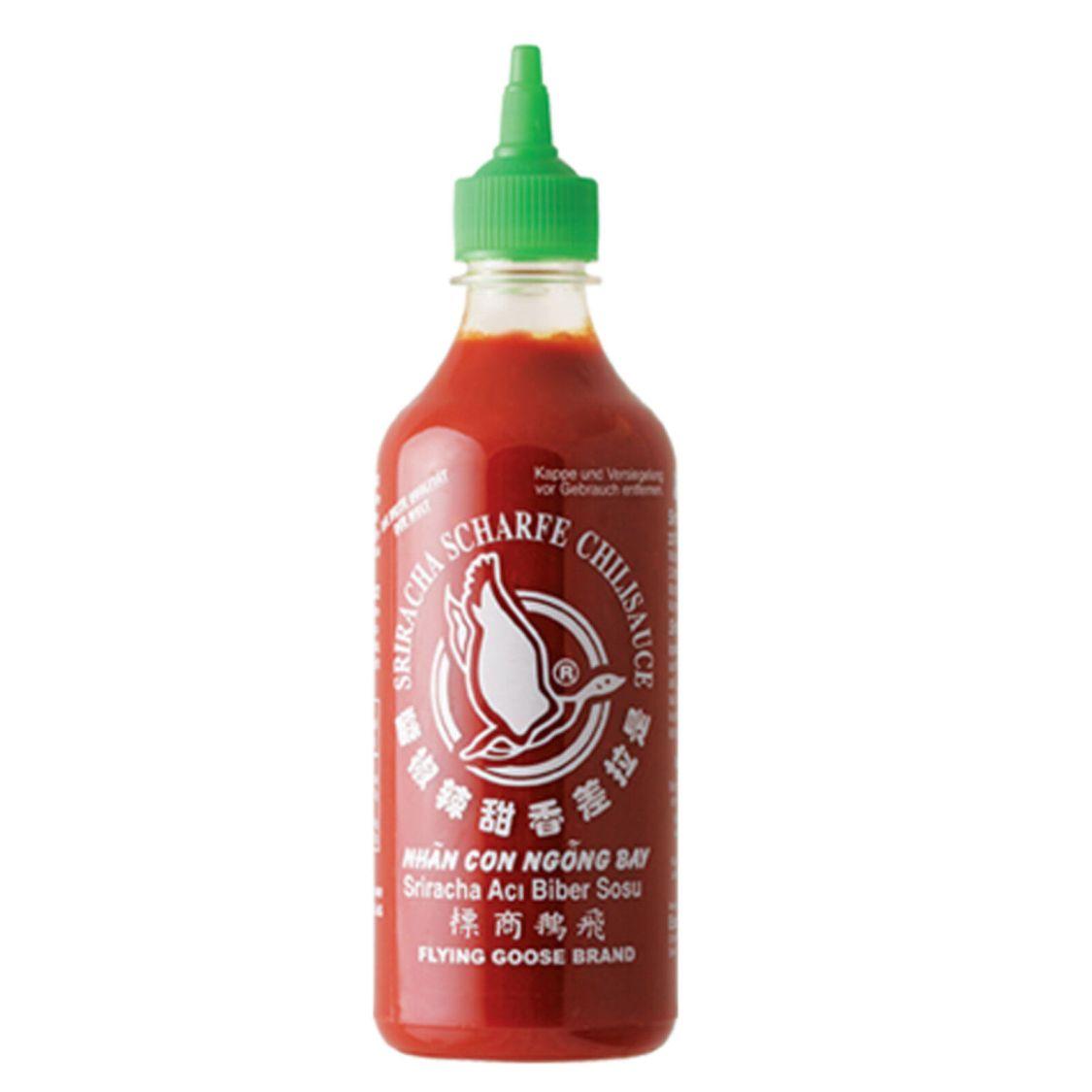455ml scharfe Sriracha Chilisauce mit Knoblauch Flying Goose Brand 61% Chili